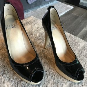 Stuart Weitzman platform heel shoe Black Mary Jane